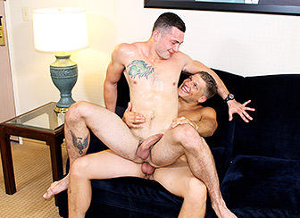 Two gay allies receive nude and raunchy together