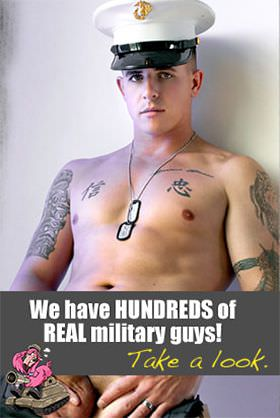 We have HUNDREDS of REAL military guys! Take a look.